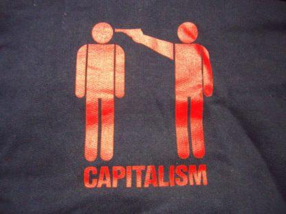 Epona Capitalism Hoody, taillierter Schnitt, Navy, 14