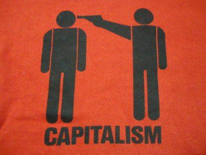 Epona Capitalism Hoody, gerader Schnitt, Rot, Medium
