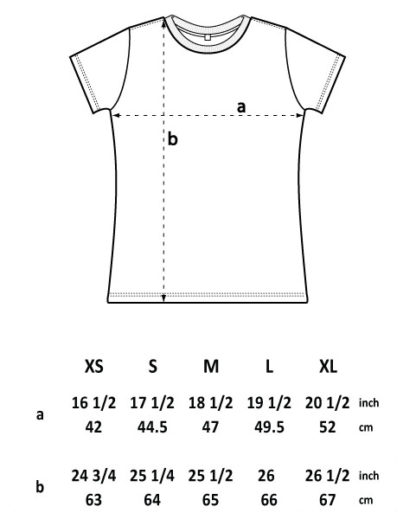 EP02 T-Shirt tailliert Größentabelle